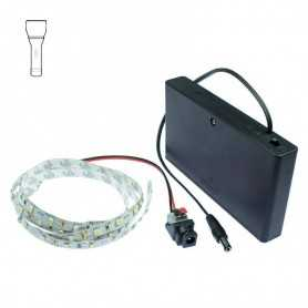 Light Painting batteries kit with 1m white LED strip. Filaments effect