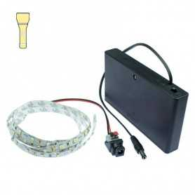 Light Painting batteries kit with 1m warm white LED strip. Filaments effect