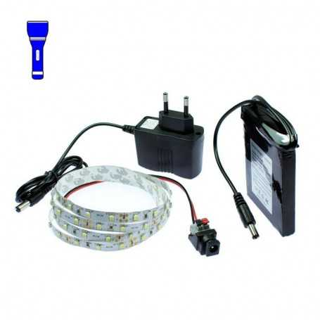 Light Painting battery kit with 1m blue LED tape. Filaments effect