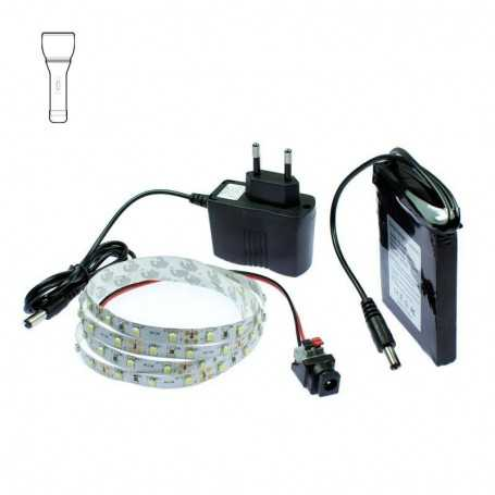 Light Painting battery kit with 1m white LED tape. Filaments effect