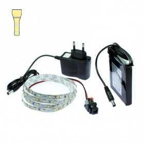 Light Painting battery kit with 1m warm white LED tape. Filaments effect