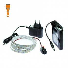 Kit Light Painting batterie avec ruban led orange de 1m. Effet filaments