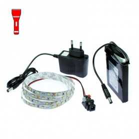 Light Painting battery kit with 1m red LED tape. Filaments effect