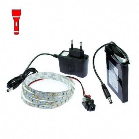 Kit Light Painting batterie avec ruban led rouge de 1m. Effet filaments