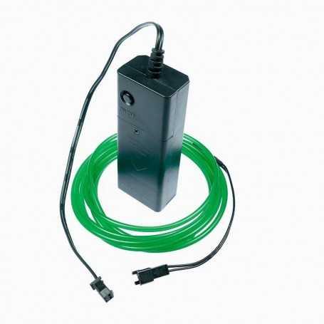 Kit fil lumineux vert à piles 2m. Effets Light Painting fumée et flammes
