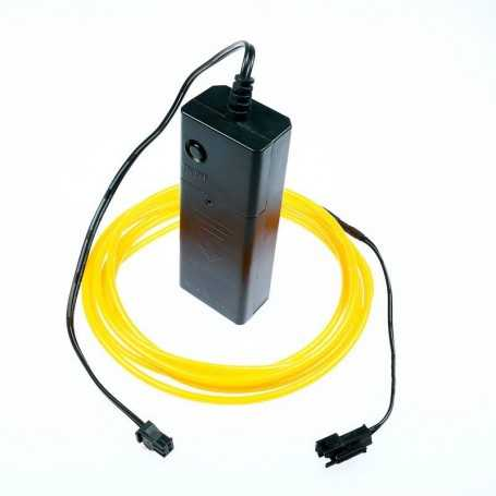 2m battery-powered yellow light wire kit. Smoke and flames Light Painting effects.