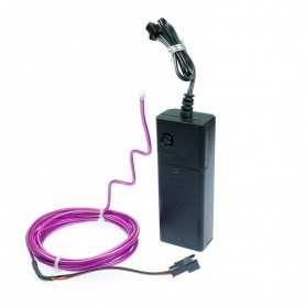2m battery-powered multiform purple neon light kit. Fixed shape and smoke Light Painting effects.