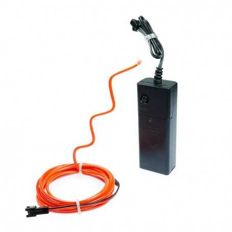 2m battery-powered multiform red neon light kit. Fixed shape and smoke Light Painting effects.