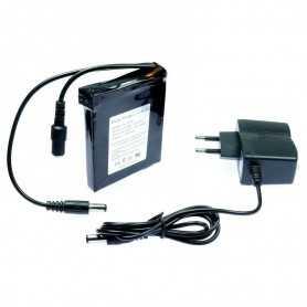 Mini batterie rechargeable 12 Volts avec chargeur pour Light Painting