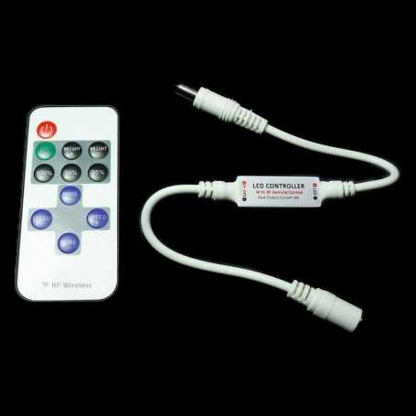 Flasher, blinker and light-dimming switch with remote control for monochrome LED tape