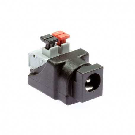 Female jack power connector clip for monochrome LED tape
