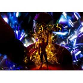 "Painting ""Spider Light"" by Ohdrey Pom's. Size: 100 cm per 70 cm."