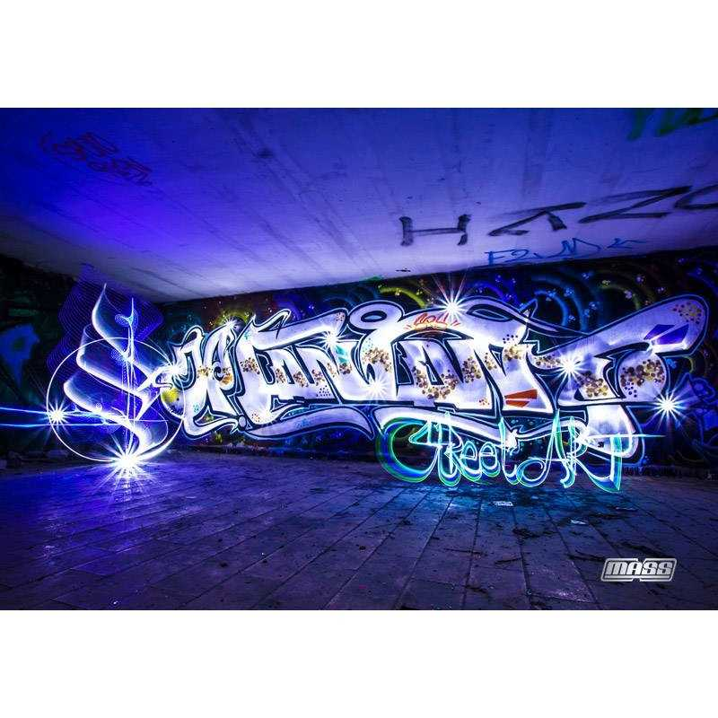 tableau streetart by mass lighter format 100cm par 70cm lightpainting. Black Bedroom Furniture Sets. Home Design Ideas