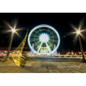 "Painting ""Ferris Wheel"" by Cesium. Size: 100 cm per 70 cm."
