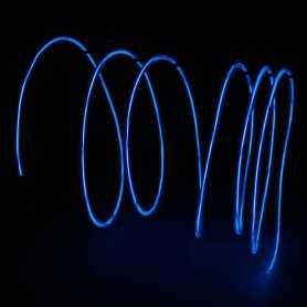 Fil lumineux bleu 2m au détail. Effets Light Painting fumée et flammes