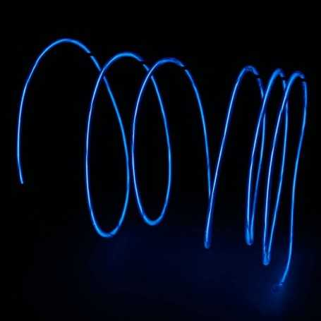 Retail 2m blue luminous wire. Smoke and flames Light Painting effects.