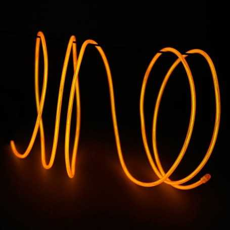 Retail 2m orange luminous wire. Smoke and flames Light Painting effects.