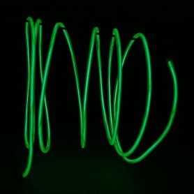 Fil lumineux vert 2m au détail. Effets Light Painting fumée et flammes