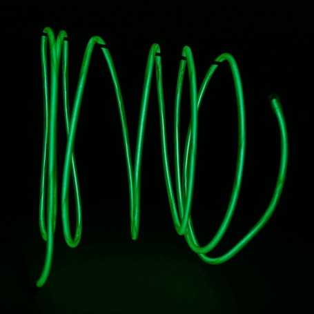 Retail 2m green luminous wire. Smoke and flames Light Painting effects.