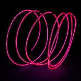 Fil lumineux rose 2m au détail. Effets Light Painting fumée et flammes