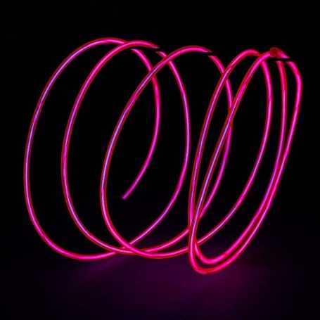 Retail 2m pink luminous wire. Smoke and flames Light Painting effects.