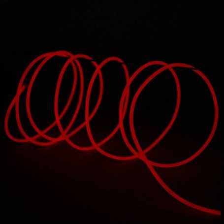 Retail 2m red luminous wire. Smoke and flames Light Painting effects.