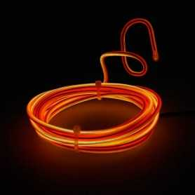 Retail 2m multiform orange neon light. Fixed shape and smoke Light Painting effects.