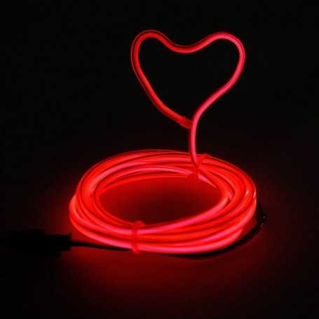 Retail 2m multiform red neon light. Fixed shape and smoke Light Painting effects.