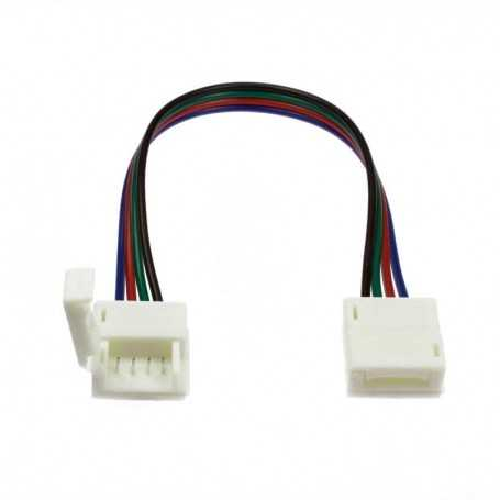 Fast and flexible connector for 2 multicolored LED tapes