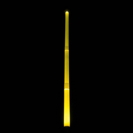 Yellow Light Graff luminous saber or sword. Draped effects and flame.