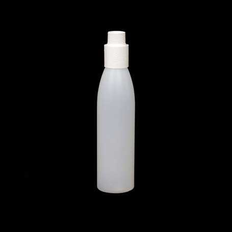 Mini opaque bottle with white filter. Smoke and steam Light Painting effects.