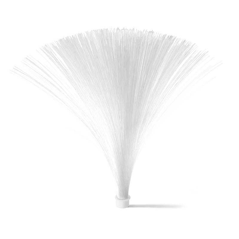 White optical fiber